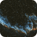 Eastern Veil nebula in SHO (NGC6995) - Too much enthusiasm : publishing a 3, 4, 5, 8 & 24 subs assembly !,                                Ewam