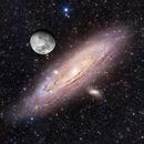Moon over Andromeda,                                Adam Block