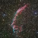 Nébuleuse de la Dentelle (NGC 6992) dans la constellation du Cygne. (Haute résolution),                                Denis Bergeron