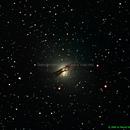 NGC 5128 - The Centaurus A radio galaxy in Centaurus,                                Marcos Mataratzis