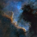 Cygnus Wall in SHO,                                starfield