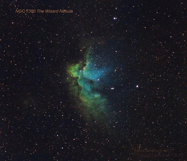 NGC 7380 The Wizard Nebula,                                David Newbury