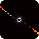 Sequence of the Total Solar Eclipse of July 2th, 2019,                                Diego Cartes