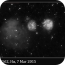 IC 2162, 7 Mar 2015, Hα False Color Animation,                                David Dearden