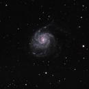 M101,                                starfield