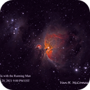 The Orion Nebula with the Running Man 1/20/21,                                Van H. McComas