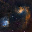 Tadpole and Flaming Star Nebula,                                Pete Strakey