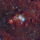 Nebulosa del Cono NGC 2264 (Cone nebula) HaRGB,                                Alfredo Beltrán