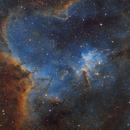 Heart nebula SHO,                                meeus