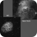 M1/M76/NGC 7635 Quick Imaging For A Change,                                mikefulb