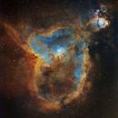 The Heart Nebula, IC 1805, Hubble Palette,                                Eric Coles (coles44)