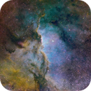 NGC 6188 Mapped in HST:  New Narrow Band Data Blend Processing,                                Fernando