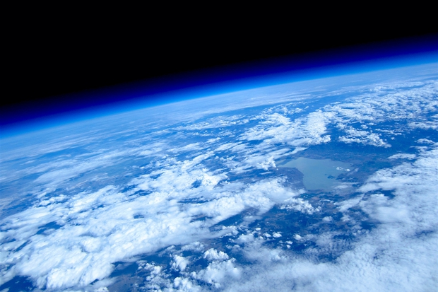 View of Home from Near Space via High Altitude Balloon,                                Kent Wood