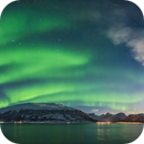Aurora Panorama in Norway from ms Trollfjord,                                Alan Dyer