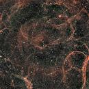 Sh2-240  Simeis 147 - Spaghetti Nebula,                                Edward Overstreet