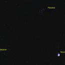 Waxing Gibbous Moon-Pleiades-Aldebaran,                                Kurt Zeppetello
