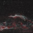 Witch's Broom Nebula & Pickering's Triangle in HaOO Bi-colour,                                Graham Roberts