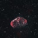 Crescent Nebula in HOO,                                David Schlaudt