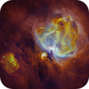 Fire in the Sky: M42 in Lurid Narrowband,                                Andy 01