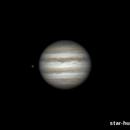 Jupiter and Ganymede, 22 january 2015, 23:45-23:56,                                Star Hunter