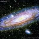 m31 galassia di andromeda                                               distanza due milioni cinquecento  A:L.,                                Carlo Colombo