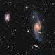 NGC 3718 and 9 Quasars,                                sky-watcher (johny)