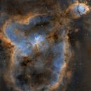 The Heart Nebula IC1805 - SHO Mosaic Other version,                                Arnaud Peel