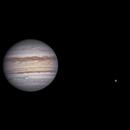 Jupiter et ses lunes Ganymède, Callisto et Io,                                BLANCHARD Jordan