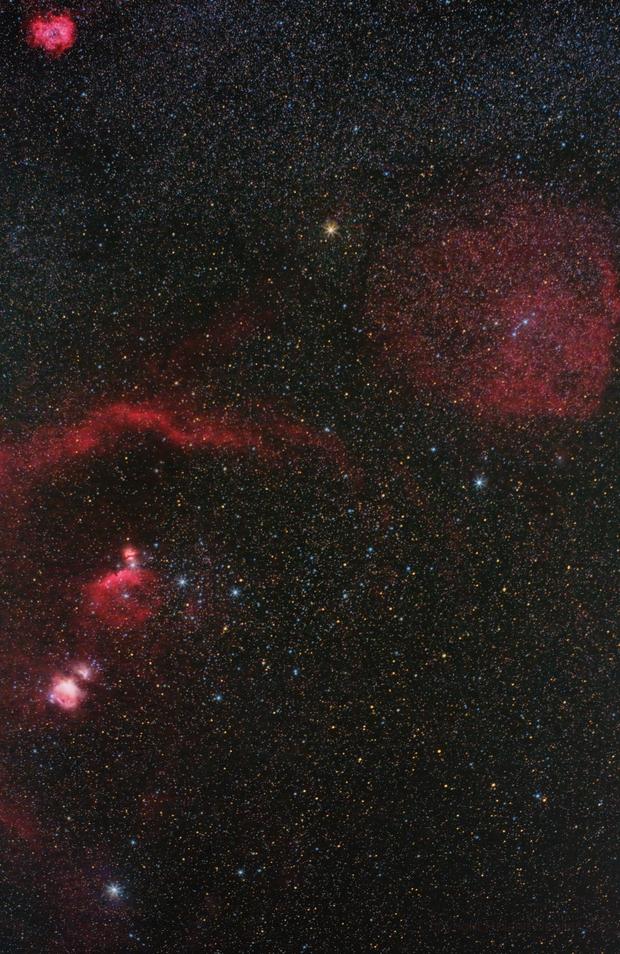 Rosette Nebula, Lambda Orionis, Barnard's Loop, Horsehead  & Orion Nebula,                                Roland Schliessus