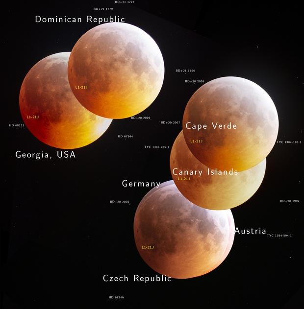 APOD 2020 February 5 - Many Moons,                                Robert Eder