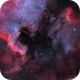 Four Panel mosaic Ha O3 Bicolor with LRGB stars of NGC7000,                                Robert Habolin