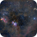 Orion Belt and Sword + Witch Head Nebula,                                RichR