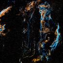 NGC 6960 - Veil Nebula in Hubble Palette,                                Skywalker83
