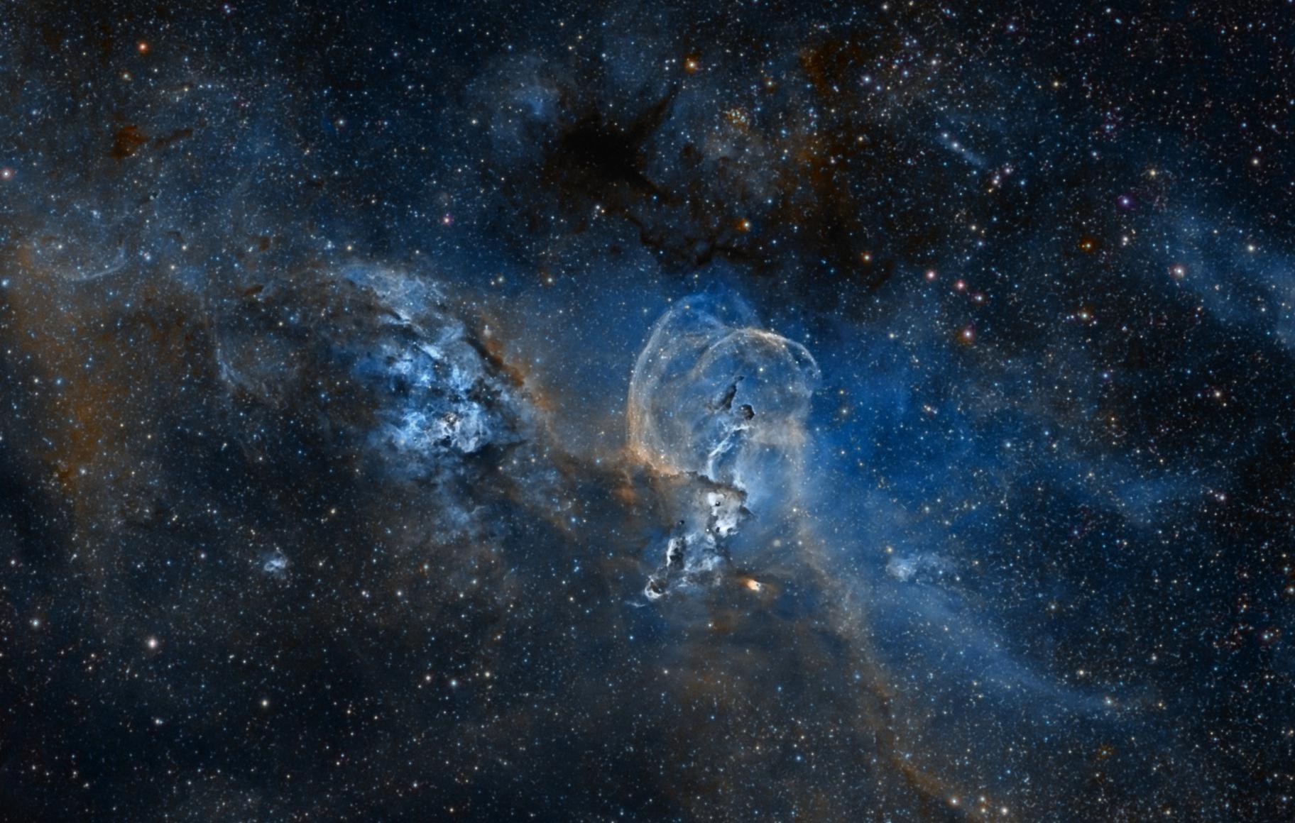 NGC 3576 - Liberty Nebula Enhance,                                George Varouhakis