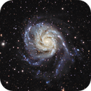 M101 Crop from widefield (unguided),                                Jim Lafferty