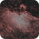 The Eagle Nebula (M16) in HOO,                                JDJ