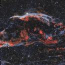 Western Veil (NGC 6960) Captured in Ha and OIII,                    Chuck's Astrophot...