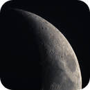 Moon 17.04.2021. Mosaic of 4 pictures. Illumination 27%.,                                Sergei Sankov