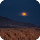 New Years Day Supermoon over Borrego Badlands,                                Tom Robbe