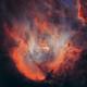 Starless Running Chicken Nebula (IC 2944) HOO,                                Ben