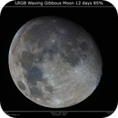 LRGB Waxing Gibbous Moon 12 days 85%,                                Brice Blanc