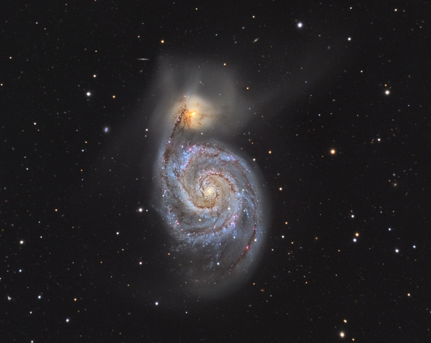 M51_LRGB,                                Robert Novotný