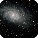 m33, la galaxie du triangle,                                bzizou
