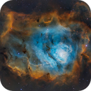 Lagoon Nebula (M8) in the Hubble Palette,                    Chuck's Astrophot...