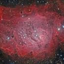 M8 - Lagoon nebula in Sagittarius,                                Stellario