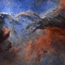 NGC6188 and NGC6164 The Fighting Dragons of Ara HSO Mosaic 1*2,                                johnnywang