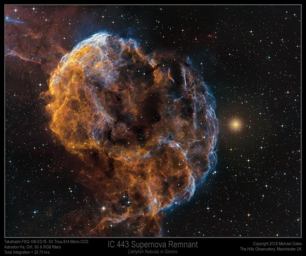 IC 443 Supernova Remnant (Jellyfish Nebula) in Gemini,                                Mike Oates
