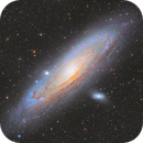 Two different versions of Andromeda Galaxy,                                Shenyan Zhang