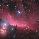 Flame and Horsehead Nebula (IC434) in HaRGB,                                Andrew Klinger