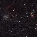 NGC1912 (M38), NGC1907, IC417, NGC1931,                                Stefano Zamblera